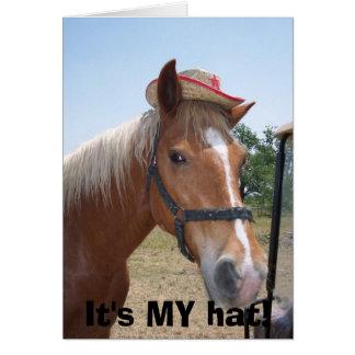 It's MY hat! Card