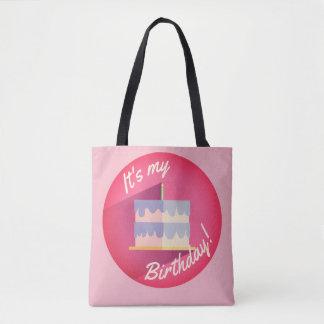 It's My Pink Birthday Cake Bag by Aleta