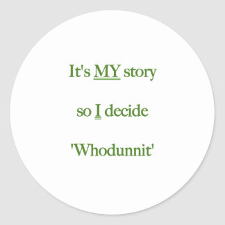It's my Story Green Round Stickers