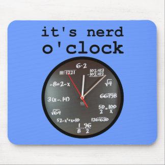 It's Nerd O'Clock Funny Clock Mousepad Mouse Pad