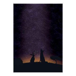 Its nice to stargaze with friends poster