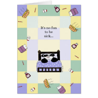 It's no fun being sick - Get Well Card