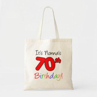 It's Nonna's 70th Birthday Fun and Colorful Tote
