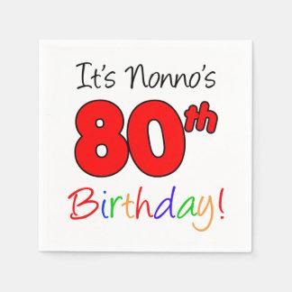 It's Nonno's 80th Birthday Napkins Disposable Serviettes
