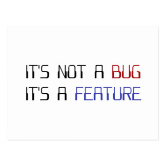 It's Not a Coding Bug It's a Programming Feature Postcard