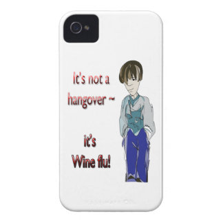 It's not a Hangover, it's Wine flu! humorous Gifts iPhone 4 Cases