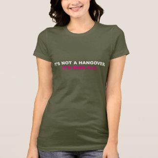 """""""It's Not a Hangover. It's Wine Flu."""" Womens Shirt"""
