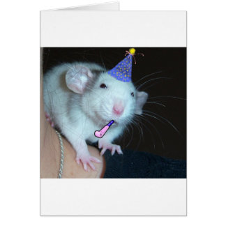 It's Not a Party Till a Rat Shows Up! Card