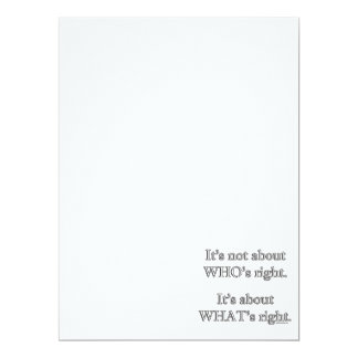 It's not about WHO's right. 17 Cm X 22 Cm Invitation Card