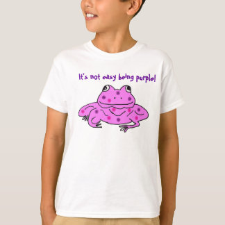 It's not easy being purple! frog outfit T-Shirt