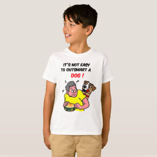 It's Not Easy To Outsmart A Dog 3 T-Shirt
