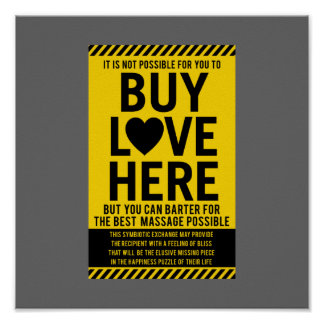 It's Not Possible For You To BUY LOVE Here Poster