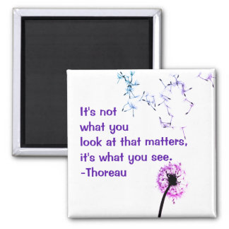 It's not what you look at Thoreau Magnet