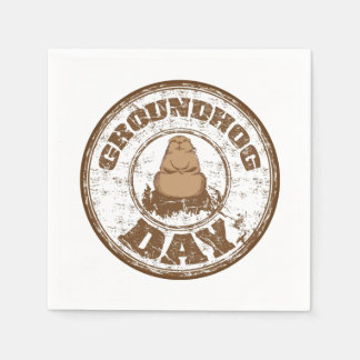 It's Official Groundhog Day Party Paper Napkins