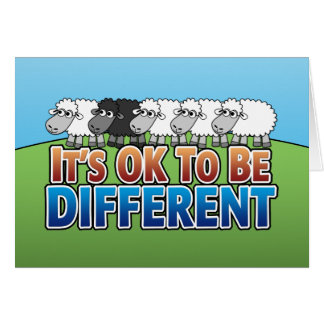 It's OK to be Different BLACK SHEEP Card