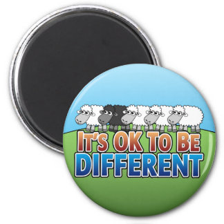It's OK to be Different BLACK SHEEP Magnet