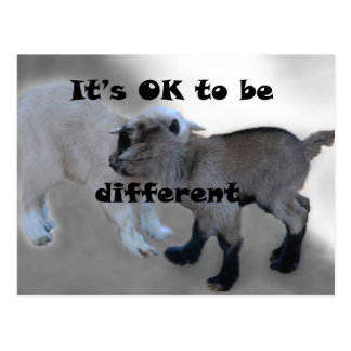 It's Ok to be different Postcard