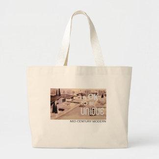It's OK to be UNIQUE Jumbo Tote Bag - Retro Modern
