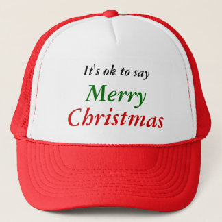 It's ok to say Merry Christmas Cap