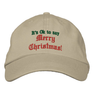 It's Ok to say Merry Christmas Hat, Baseball Cap