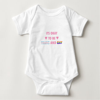 It's Okay To Be Trans And Gay (v1) Baby Bodysuit