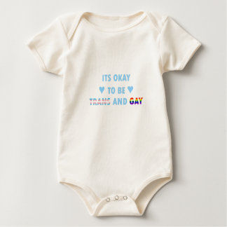 It's Okay To Be Trans And Gay (v2) Baby Bodysuit