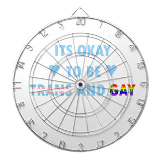 It's Okay To Be Trans And Gay (v2) Dartboard