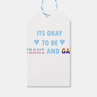 It's Okay To Be Trans And Gay (v2) Gift Tags