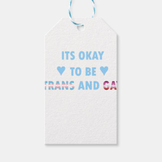It's Okay To Be Trans And Gay (v3) Gift Tags