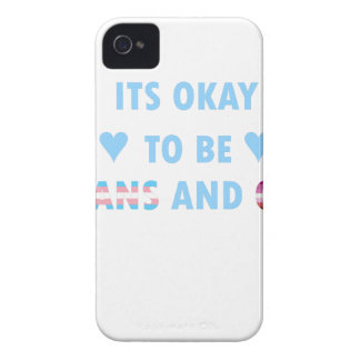It's Okay To Be Trans And Gay (v3) iPhone 4 Cases