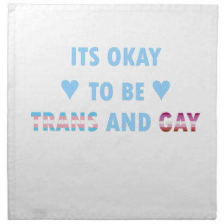It's Okay To Be Trans And Gay (v3) Napkin