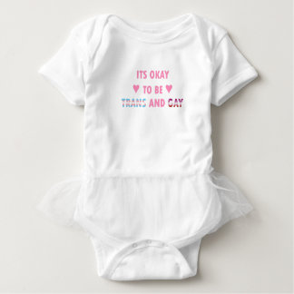 It's Okay To Be Trans And Gay (v4) Baby Bodysuit