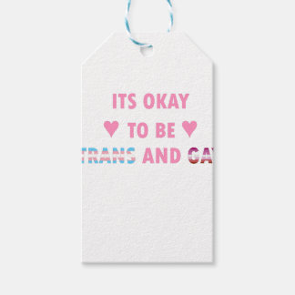 It's Okay To Be Trans And Gay (v4) Gift Tags