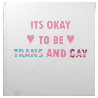 It's Okay To Be Trans And Gay (v4) Napkin