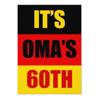It's Oma's 60th Birthday German Flag Invite