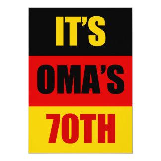It's Oma's 70th Birthday German Flag Invite