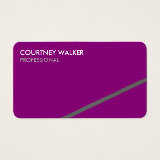 It's on an angle purple business cards