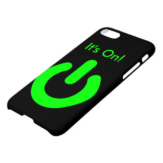 """It's On!"" Custom iPhone 7 Glossy Case"