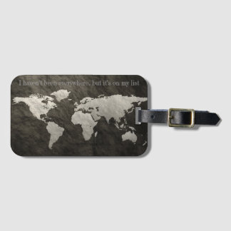 It's On My List Luggage Tag