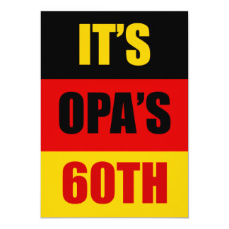 It's Opa's 60th Birthday German Flag Invite