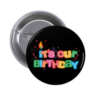 It's Our Birthday Letters 6 Cm Round Badge