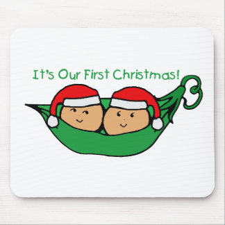 It's Our First Christmas Twin Pod  Mouse Mat