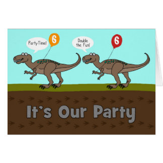 It's Our Party Dinosaurs Birthday Invitation