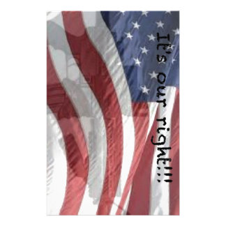 It's our right patriotism stationery paper