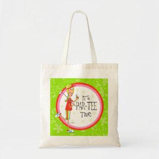 It's Par-Tee Time tote bag