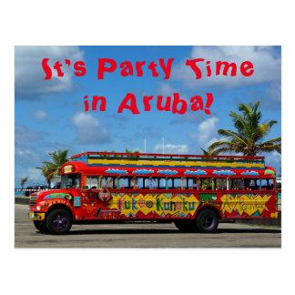 It's Party Time in Aruba Postcard