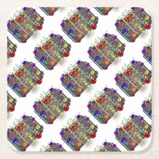 It's Party Time! Square Paper Coaster