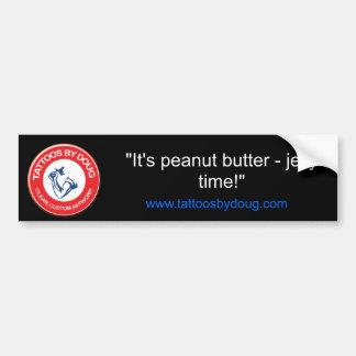 """""""It's peanut butter - jelly time!"""" Bumper Sticker"""