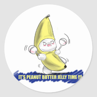 ITS PEANUT BUTTER JELLY TIME ROUND STICKER
