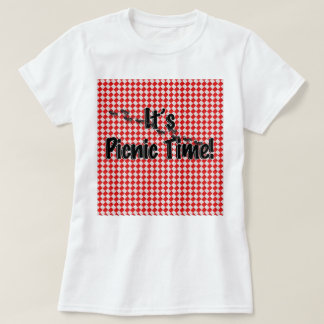 It's Picnic Time! Red Checkered Table Cloth w/Ants T-Shirt